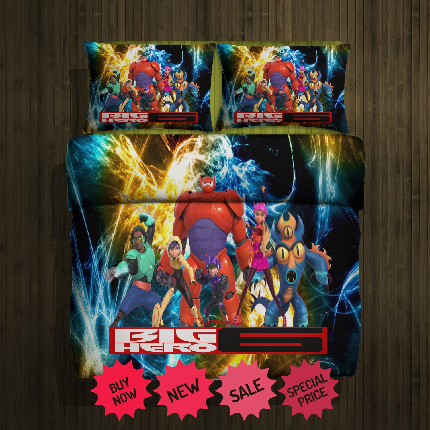 Big Hero 6 fleece blanket large & 2 pillow cover 81188923,81188925(2)