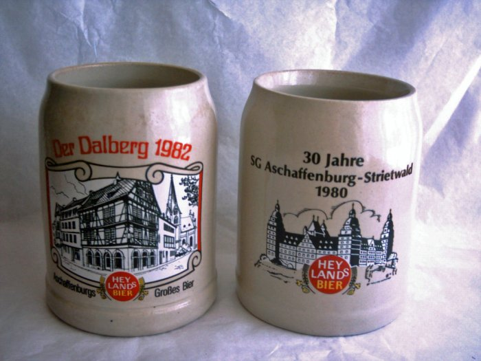 Collectible Krugs, Hey Lands Bier, Set of 2, Lot 3
