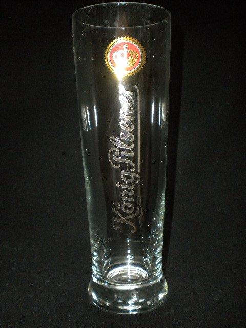 Konig-Pilsener German Beer Glass, Set of 2