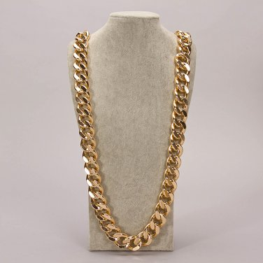 """Celebrity cuban franco Miami chain twisted ICED OUT gold plated 39"""" mens necklace 25MM width"""