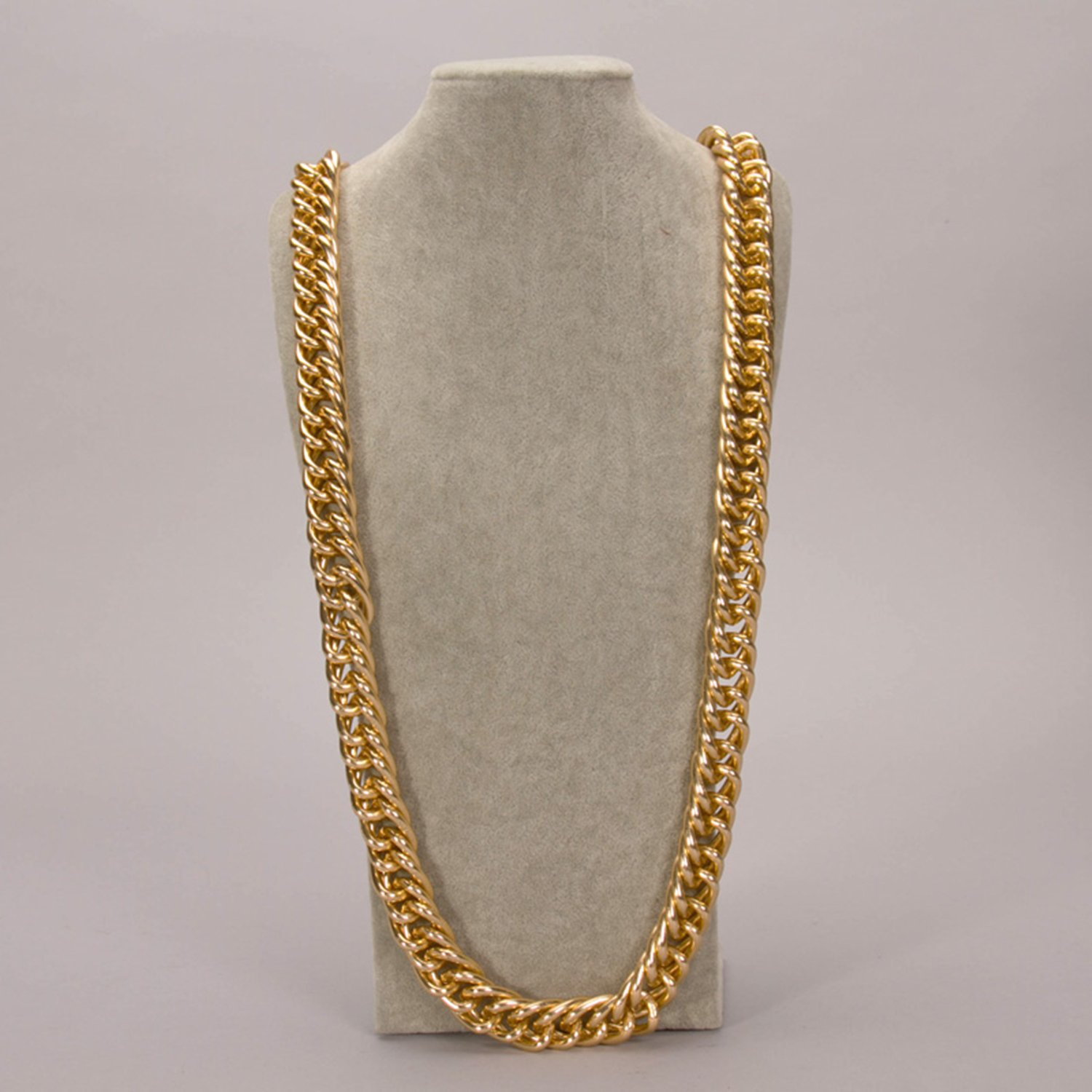 """Celebrity cuban franco Miami chain twisted ICED OUT gold plated 36"""" mens necklace 20MM width"""