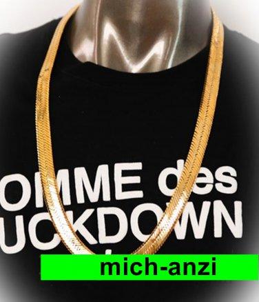 "JayZ Rocky hip hop Herringbone cuban chain 14mm width gold plated 30"" MENS necklace"