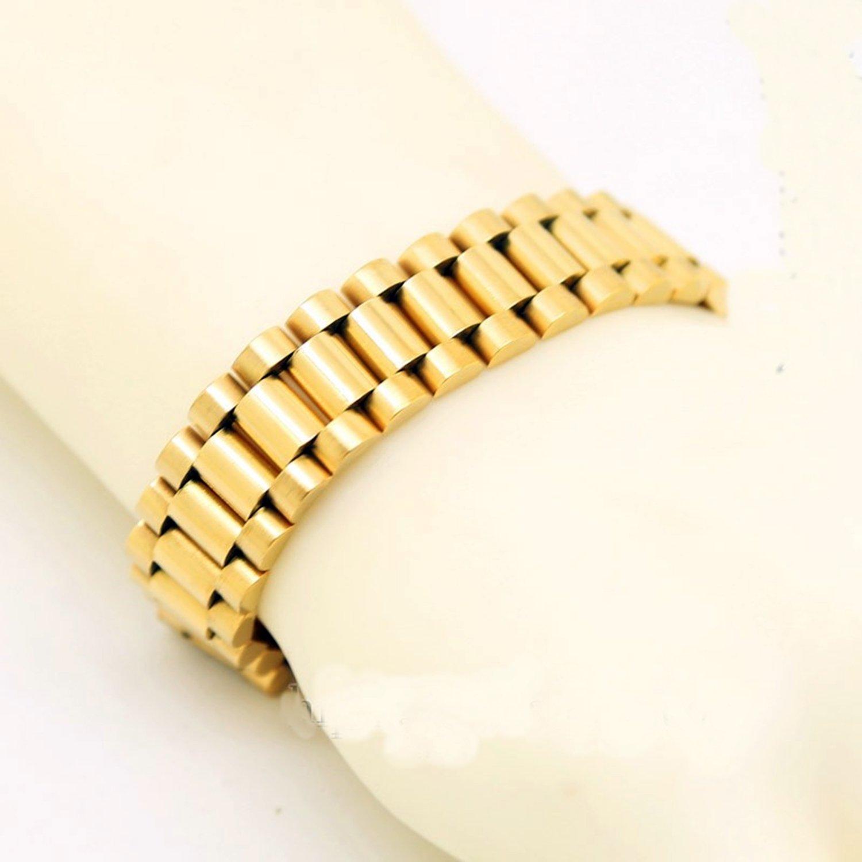 Celebrity HIP HOP 10MM/16mm width 3/5 beads rows wristband gold band bracelet