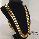 """HIP HOP JayZ rappers cuban franco Miami chain ICED OUT gold 36"""" chunky necklace"""