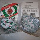 Baking Cups Paper  Decorated Holiday Holly Pattern Reg Size 50/pkg