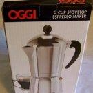 Oggi Stovetop Espresso Maker 6 CUP (12oz)