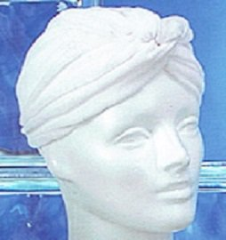 Terry Hair Turban White