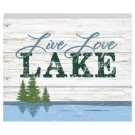 "Lakeside Theme Wood Plaque  ""Live Love LAKE""  (4606-5101)"