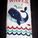 "Ritz Kitchen Towel Whale ""Don't make waves"" 16 in x 25 in Cotton"
