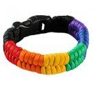 Rainbow Gay Pride Colors Paracord Bracelet