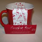 Home Essentials Fresh and Seal Stoneware Round Soup Mug with Cover 16oz. RED