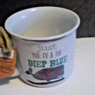 Boston Warehouse  Deep Blue Sea Mug 16oz Stoneware