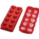 Silicone Puffed Hearts Shape Ice Cube Tray (43792)