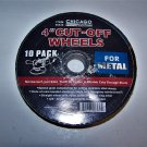 "Chicago Electric Power Tools 4"" x 3/64 Cut-Off Wheels for Metal  10/pkg"