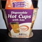 Nicole Home Collections 16 Count Hot/Cold Cup with Lid, Leaves, 16 fl oz.