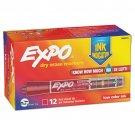 Sanford Expo Dry Erase Marker Chisel Tip with  Ink Indicator  RED   DOZEN