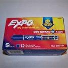 Sanford Expo Dry Erase Marker Chisel Tip with  Ink Indicator  BLUE   DOZEN