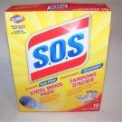 S.O.S. Steel Wool Soap  Pads 10ct box.