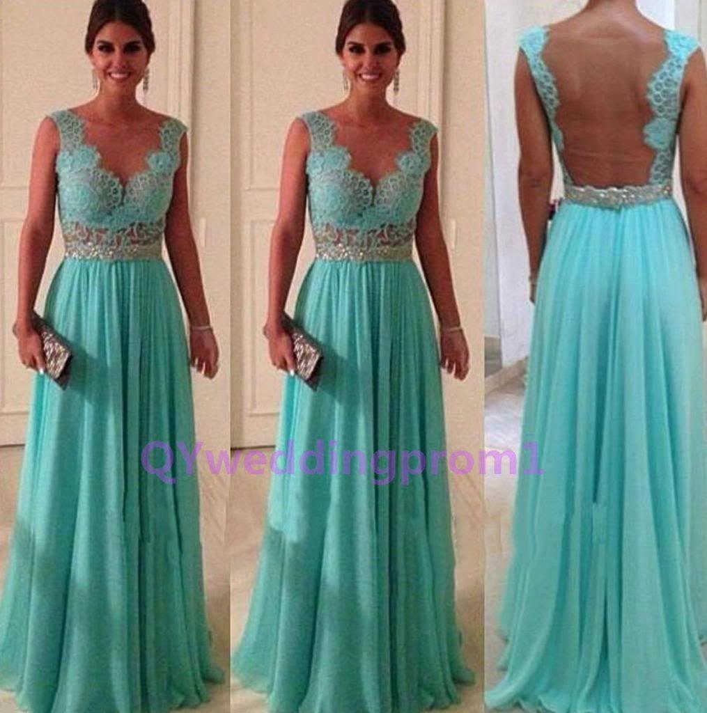 2015 new Green lace prom dress long prom dress, bridesmaid dress,evening dress