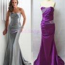 2015 Newnail bead evening dress,strapless long PROM dress,long bridesmaid dresses
