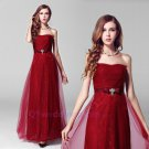2015 New strapless Bride toast clothing Wedding gown prom gown long sexy formal evening dress