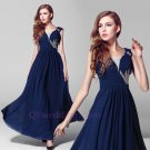 2015 New elegant beads Bride toast clothing Wedding gown prom gown long sexy formal evening dress