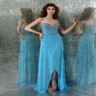 Custom made  Stunning Train Long Evening Dresses 2015 NEW Prom Gowns