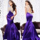New Beads Long Mermaid Prom Formal Evening Party Pageant Ball Dress