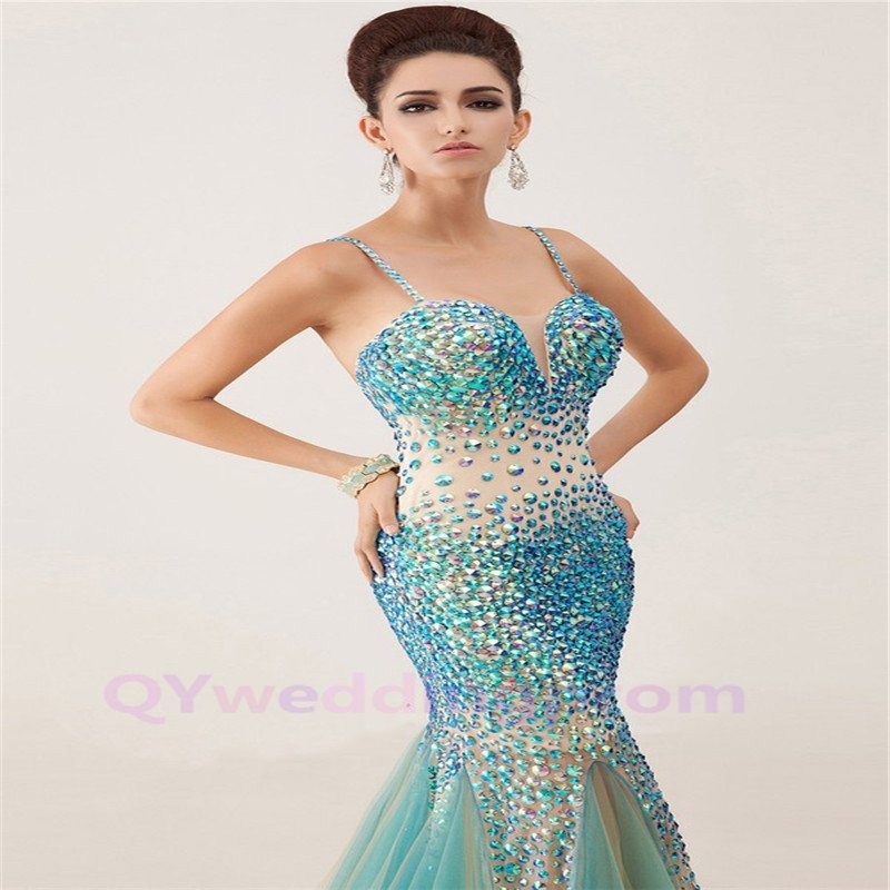 Custom made Dress for Crystal Prom Gowns 2015 Evening Dresses