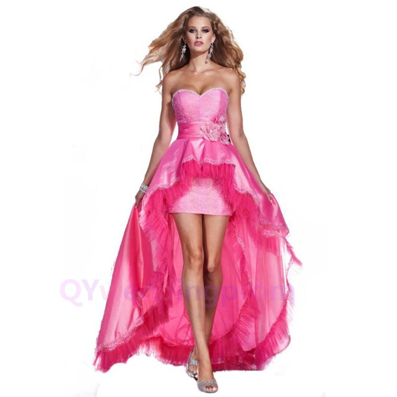 New Pink Birthday Party Gown  Cocktail Homecoming Dress Sweet Skirt