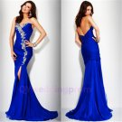 2015 Blue Mermaid Evening Dresses  Chiffon  Wedding Party Gowns