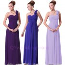 2015 Simple Evening Dresses Scoop One Shoulder Ruched Ankle Length Formal Gowns
