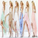 New Arrive Sequins Empire Custom Made Chiffon Prom 2015 Short Front Long Back Dress