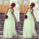 Elegant Design Sweetheart Empire Straight Chiffon floor length Evening Mint Prom Dress