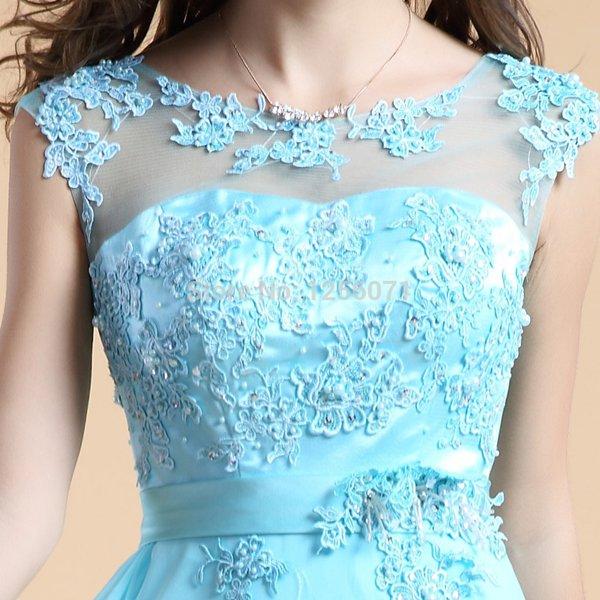 2015 New women lace evening dress Long bridesmaid party dress custom size color