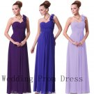 Simple Evening Dresses Scoop One Shoulder Ruched Ankle Length Zipper Formal Gowns