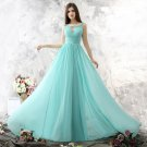Sexy Evening Dress Light Green Chiffon Backless A-Line Plus Size Long Prom Dresses