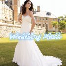 New High Quality White Sweetheart Backless Tulle A-Line Wedding Dresses Gowns