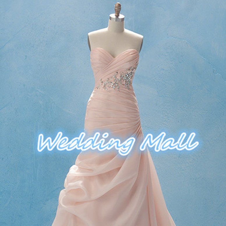 Custom Made Dress pink A-Line Sweetheart Long Appliques Pleat Tulle Bridal Wedding Dress