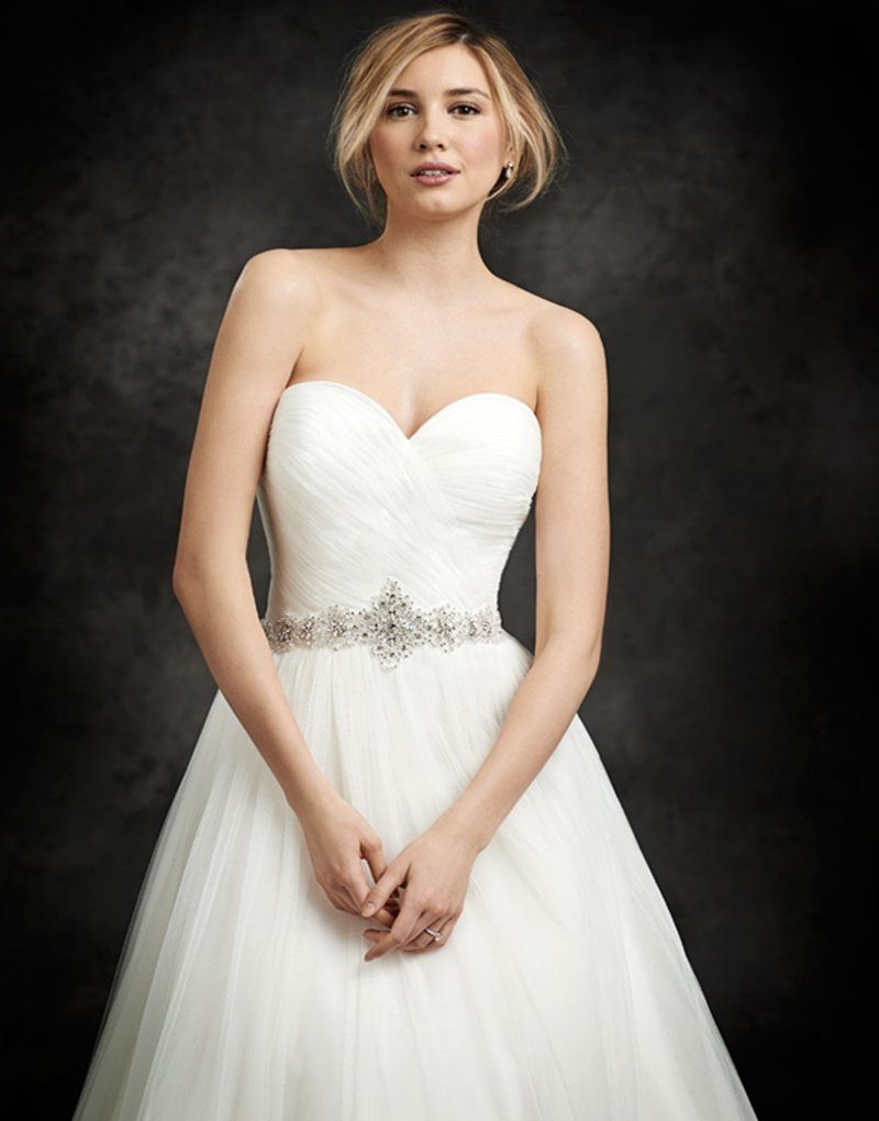 2016 Custom size Sexy Backless Tulle Simple Romantic White Long A-Line Sweetheart Wedding Dress