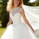 Custom made Bride dress A-Line Sweetheart Sexy Wedding Gown White Tulle Long Vintage Wedding dress