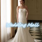 New Wedding Dress Fashion Bead Crystal Floor Length Sweetheart White Mermaid Bride Dress
