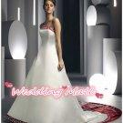 New Wedding Bride Dress Fashion Winter A-Line Train Lace Long White Custom Bride Wedding Dress