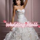 New Wedding Bride Dress Winter A-Line Flower Long White Bride Dress Custom Wedding Dress