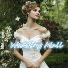 Bride Dress Popular A-Line Long Ruched Applique Organza White Custom Bride Wedding Dress