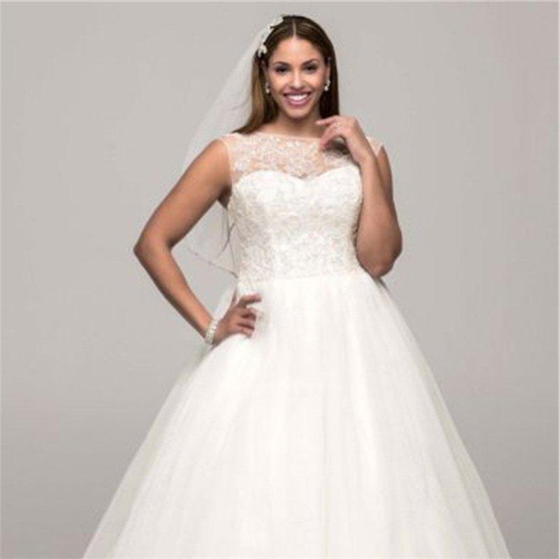 New Wedding Bride Dress Fashion A-Line Appliques Lace Wedding Dress Custom Wedding Bride Dresses
