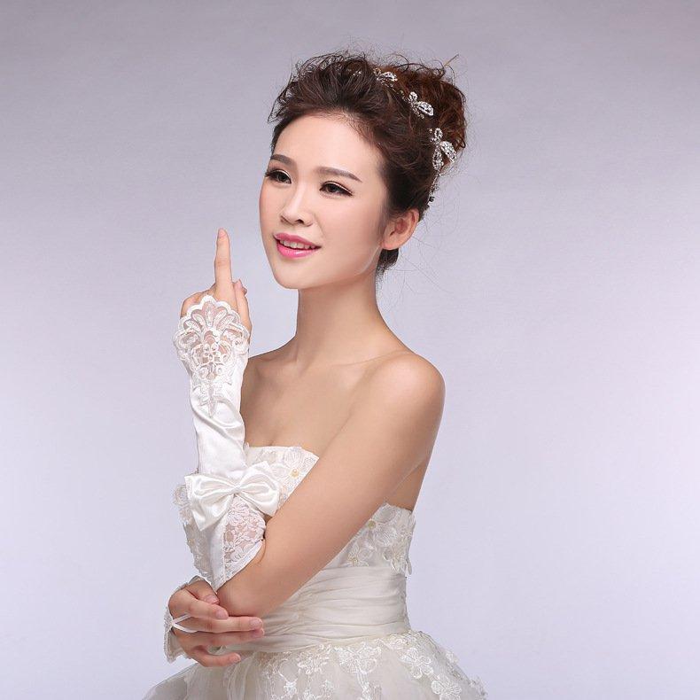 new bride wedding gloves bridal lace chiffon short paragraph Spring Wedding Gloves white accessories