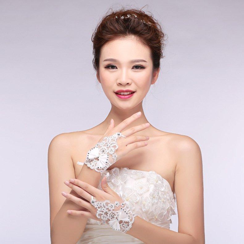new Korean Korean bride wedding gloves wedding short paragraph mitts Accessories