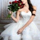 Sexy High-Low Lace Wedding Dress Backless Sweetheart Fashion White Plus Size Bridal Dress