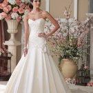Custom Made White Sexy Backless Wedding Dress Sweetheart Appliques Long Mermaid Wedding Dress
